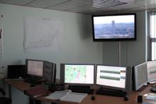 centro de control de luces de perforación