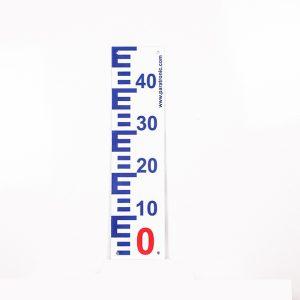 Echelle Limnimétrique positive mesure de niveau d'eau