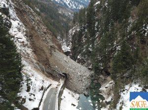 Gorges de l'Arly, glissements de terrains 4