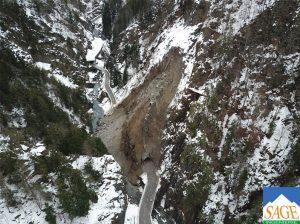 Gorges de l'Arly, glissements de terrains 2
